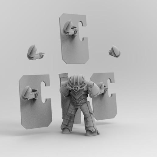 BOARDING3.jpg Download free STL file Boarding Shields • Template to 3D print, KrackendoorStudios