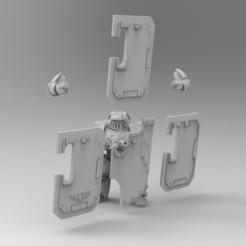Download free STL file Boarding Shields • Template to 3D print, KrackendoorStudios