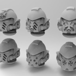 Download free STL files Black Templars Primaris Helmet, KrackendoorStudios