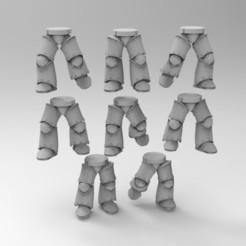 Descargar diseños 3D gratis MKIII Armadura de Hierro Poses de piernas, KrackendoorStudios