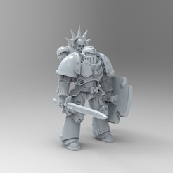 untitled.13.jpg Télécharger fichier STL gratuit Poseable Primaris Bladeguard • Objet pour imprimante 3D, KrackendoorStudios