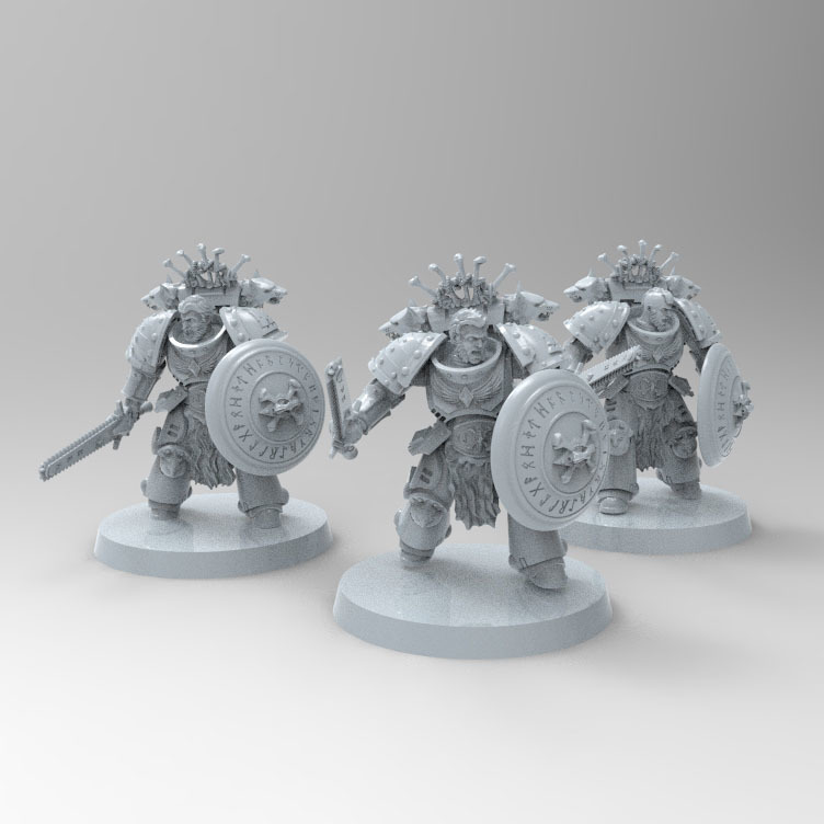 98AA2458-0AAB-41DE-82A6-1D73B814C16D.jpeg Download free STL file Space Wolves Bladeguards  • 3D printer design, KrackendoorStudios