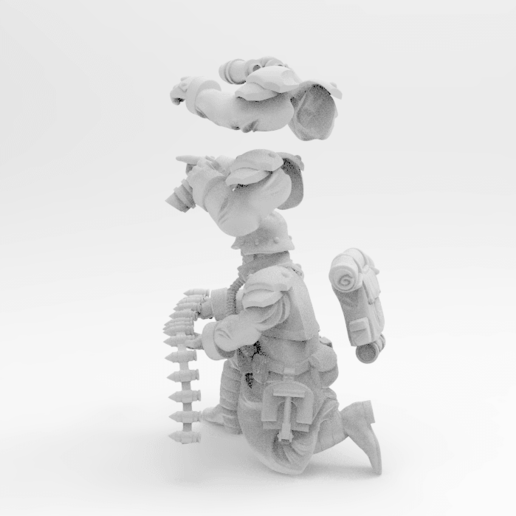 Download Free 3D Printer Designs 28mm Trench Fighter Heavy