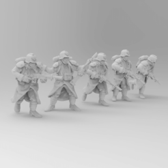Download free 3D printing designs 28mm Trench Fighters Poses 1-5, KrackendoorStudios
