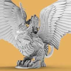 RoyalGriffin.1.jpg Download free STL file Royal Griffin Rider • Template to 3D print, AtlanForge