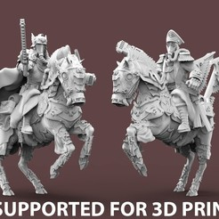 ExpendableOfficer.PRESUPPORTED.jpg Download free STL file Expendable Brigade Officers/Commissars - PRESUPPORTED • 3D printing object, AtlanForge