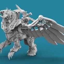 Sphynx.1.jpg Download free STL file Egyptian Sphinx Rider • 3D printable template, AtlanForge