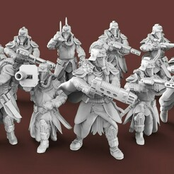 untitled.184.jpg Download free STL file The Expendable Brigade - Ranged Infantry • 3D printing template, AtlanForge