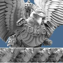 Griffin.1.jpg Download free STL file Griffin Knight - Battle Armed • 3D printable design, AtlanForge