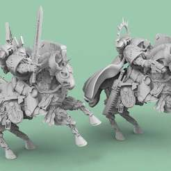 Angels.1.jpg Download free STL file Cybernetic Horses for Angel Knights • 3D print template, AtlanForge