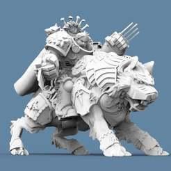 Wolf_Captain_2.jpg Download free STL file Viking Wolf Rider Captain • 3D printer design, AtlanForge