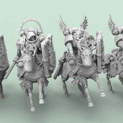 Angelic.1.jpg Download free STL file Angelic Knights • 3D printer template, AtlanForge