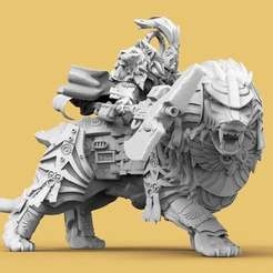 Lions1.jpg Download free STL file Emperor's Lion Guard • Design to 3D print, AtlanForge