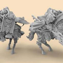 CyberRoyals.1.jpg Download free STL file Royal Guard Mounted - Cybernetic • 3D print object, AtlanForge