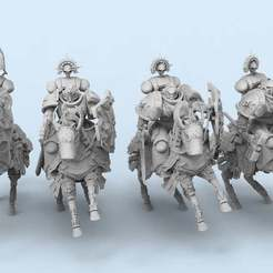 untitled.1.jpg Télécharger fichier STL gratuit Cavaliers templiers • Objet à imprimer en 3D, AtlanForge