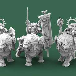 AngelicLions.1.jpg Download free STL file Angelic Lion Knights • 3D print design, AtlanForge