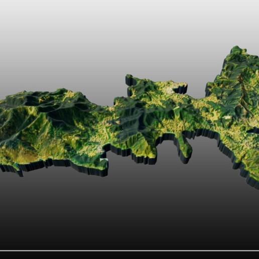 Download free STL files Elba island, JuanG3D