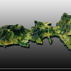 Download free STL files Elba island, JuanG3D