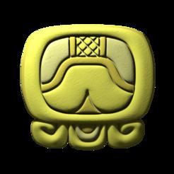 16._Kib.png Download free STL file Kib, mayan glyph • 3D printable design, JuanG3D
