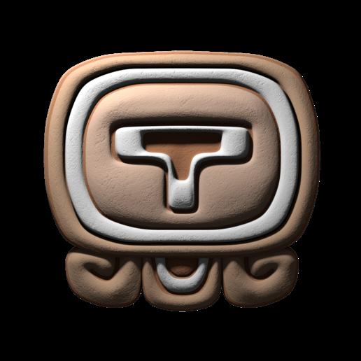 Download free 3D printing files Ik, mayan glyph, JuanG3D