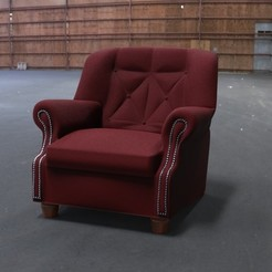 Chair.26.jpg Download free STL file Club Chair • Design to 3D print, JuanG3D