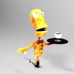 Imprimir en 3D gratis Robot camarero, JuanG3D