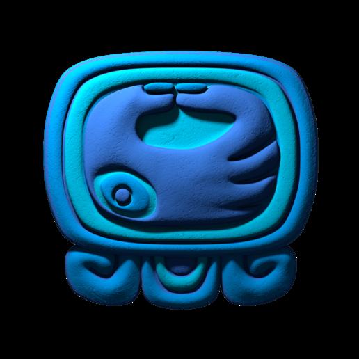 Download free STL file Manik, 7th mayan glyph • 3D printable template, JuanG3D
