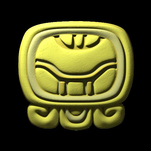 Download free STL file Kan, mayan glyph • 3D printing template, JuanG3D