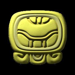 04._Kan.png Download free STL file Kan, mayan glyph • 3D printing template, JuanG3D