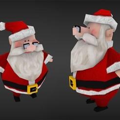 Télécharger fichier 3D gratuit Le Père Noël, JuanG3D