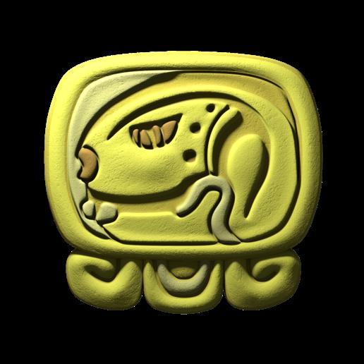 Download free STL file Eb, mayan glyph • 3D printing object, JuanG3D