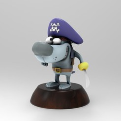 Download free STL files Pirate Dog, JuanG3D