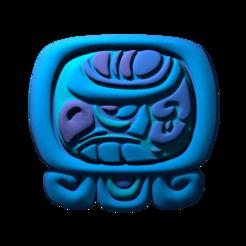 15._Men.png Download free STL file Men, mayan glyph. • Model to 3D print, JuanG3D