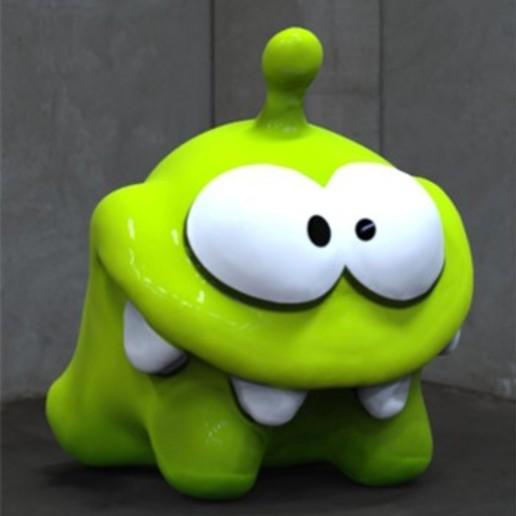 Download free STL file Om Nom • 3D printable object, JuanG3D