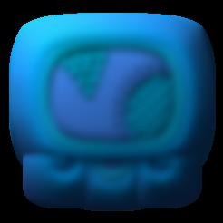Download free STL file Kawak, mayan glyph • 3D print design, JuanG3D