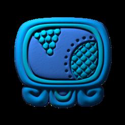 19._Kawak.png Download free STL file Kawak, mayan glyph • 3D print design, JuanG3D