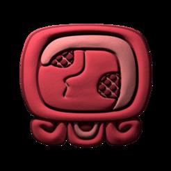 17._Kaban.png Download free STL file Kaban, mayan glyph • 3D printing design, JuanG3D