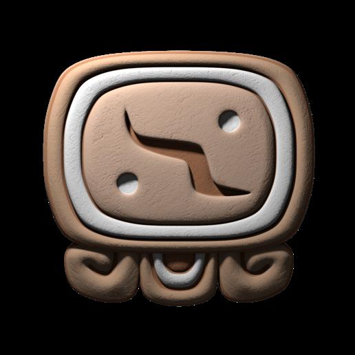 Download free STL file Kimi, mayan glyph • Model to 3D print, JuanG3D