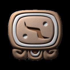 06._Kimi.png Download free STL file Kimi, mayan glyph • Model to 3D print, JuanG3D