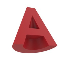 LogoAutoCAD2012.jpg Download free STL file AutoCAD 2012 logo • 3D printable model, JuanG3D