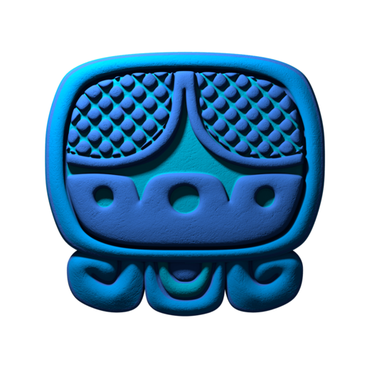 Download free STL file Akbal, mayan glyph • 3D print design, JuanG3D