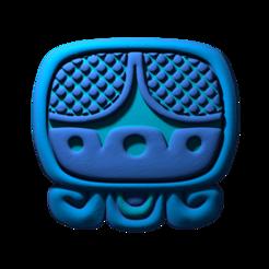 03._Akbal.png Download free STL file Akbal, mayan glyph • 3D print design, JuanG3D
