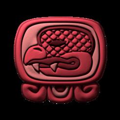 05._Chikchan.png Download free STL file Chikchan, mayan glyph • 3D printable model, JuanG3D
