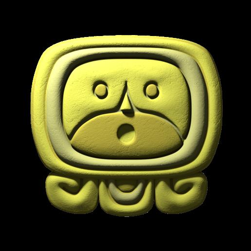 Download free STL file Ahaw, mayan glyph • 3D print object, JuanG3D