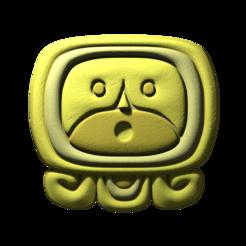 20._Ahau.png Download free STL file Ahaw, mayan glyph • 3D print object, JuanG3D