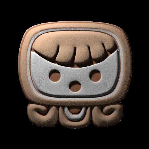 Download free STL file Ix, mayan glyph • 3D printable model, JuanG3D