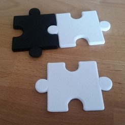 Download free 3D printer templates Chess board puzzle pieces, TooAngel