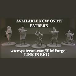 Imprimir en 3D gratis Fantasía Humana Ballesteros miniaturas de mesa, MiniForge