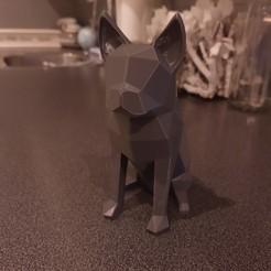 IMG_20191023_184356566.jpg Download free STL file Low poly french bulldog • Design to 3D print, VforVosh