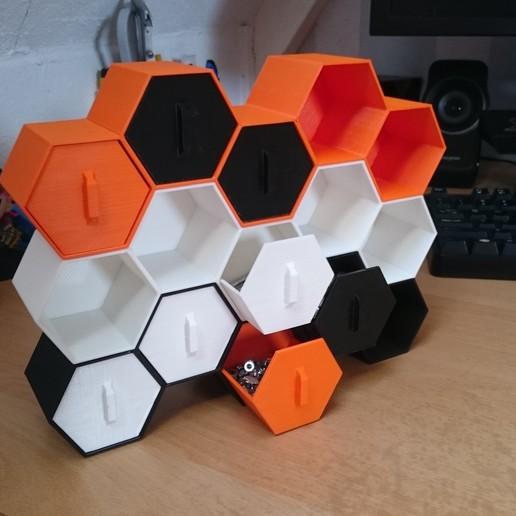 Download free STL file Stackable Hexagon storage, VforVosh